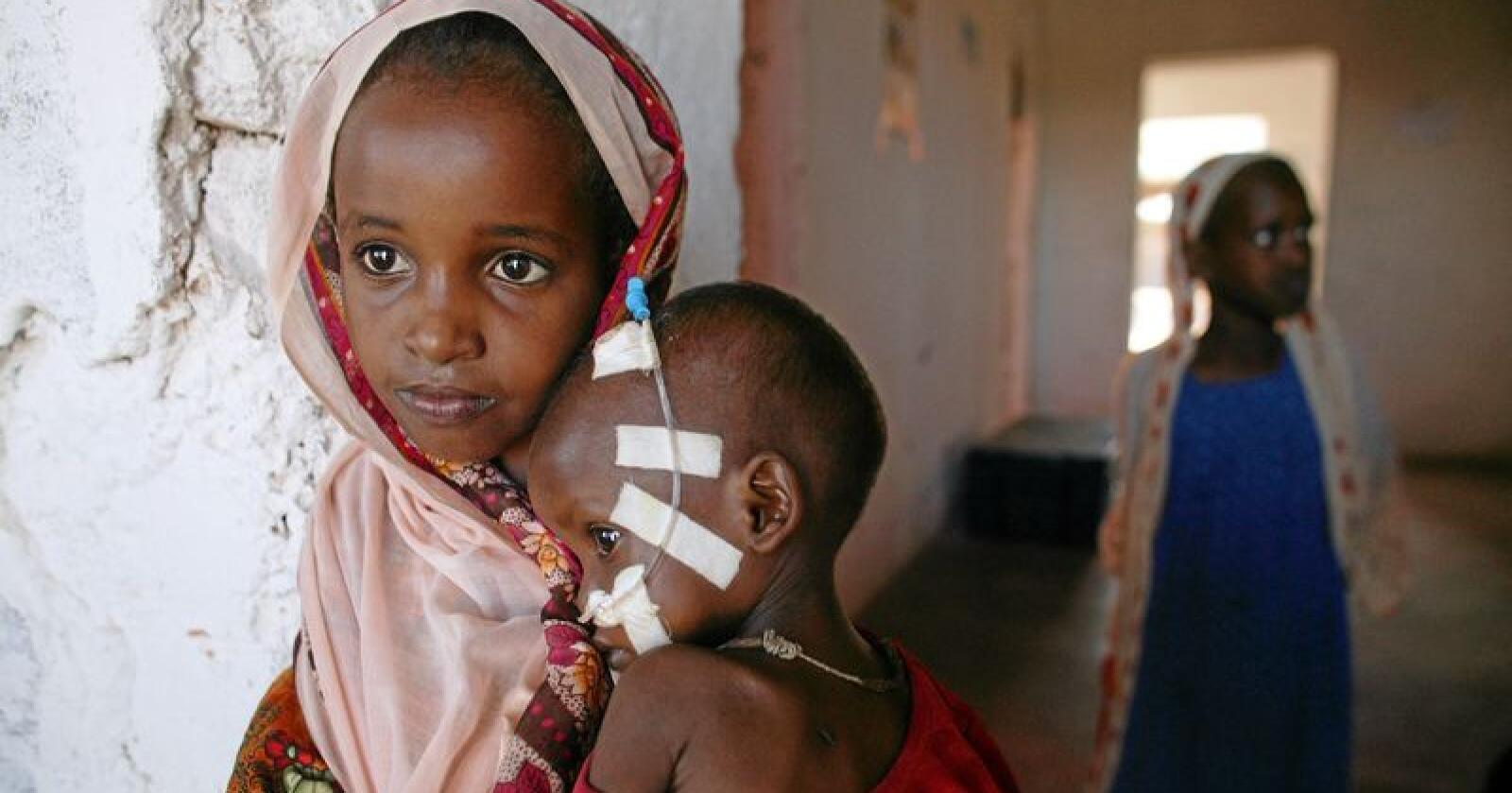 Somalia er igjen rammet av sult. Dette bildet er fra 2006, da landet også var rammet av matmangel. Foto: Michael Kamber, UNICEF / NTB scanpix