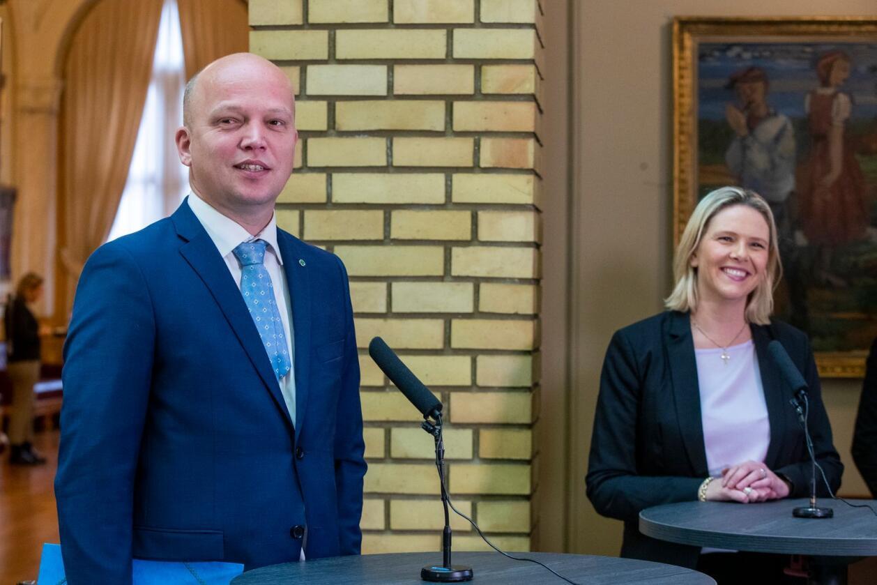 Sp-leder Trygve Slagsvold Vedum vil ikke samarbeide med Frp og Sylvi Listhaug etter valget til høsten. Foto: Terje Pedersen / NTB