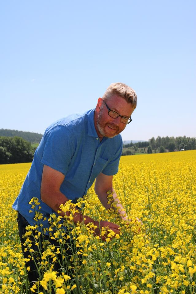 PLANTEVERN: – Det er liten hjelp i å gjødsle mye hvis avlinga blir spist opp av soppangrep, sier Bjørn Gimming. Hovedoppgaven han i sin tid leverte på Norges landbrukshøgskole, handlet om plantevern.