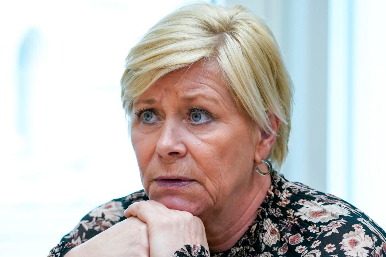 Siv Jensen (Frp) gikk nylig av som partileder. Foto: Lise Åserud / NTB