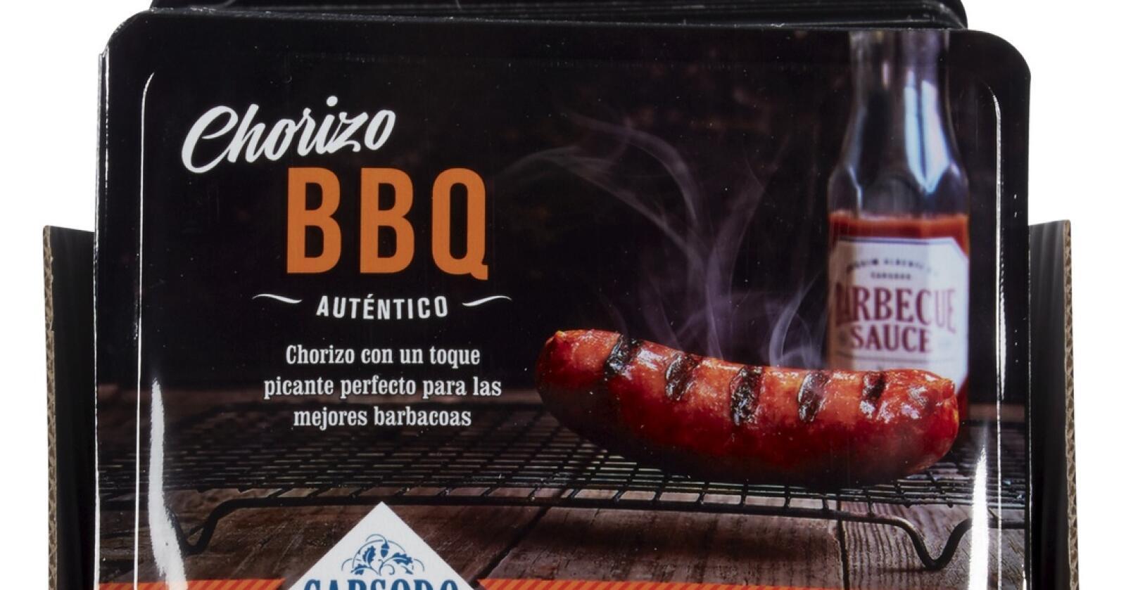 Carsodo BBQ Chorizo med best før dato 2.6.2021 og 15.6.2021 tilbakekalles. Foto: Taga Foods AS / NTB