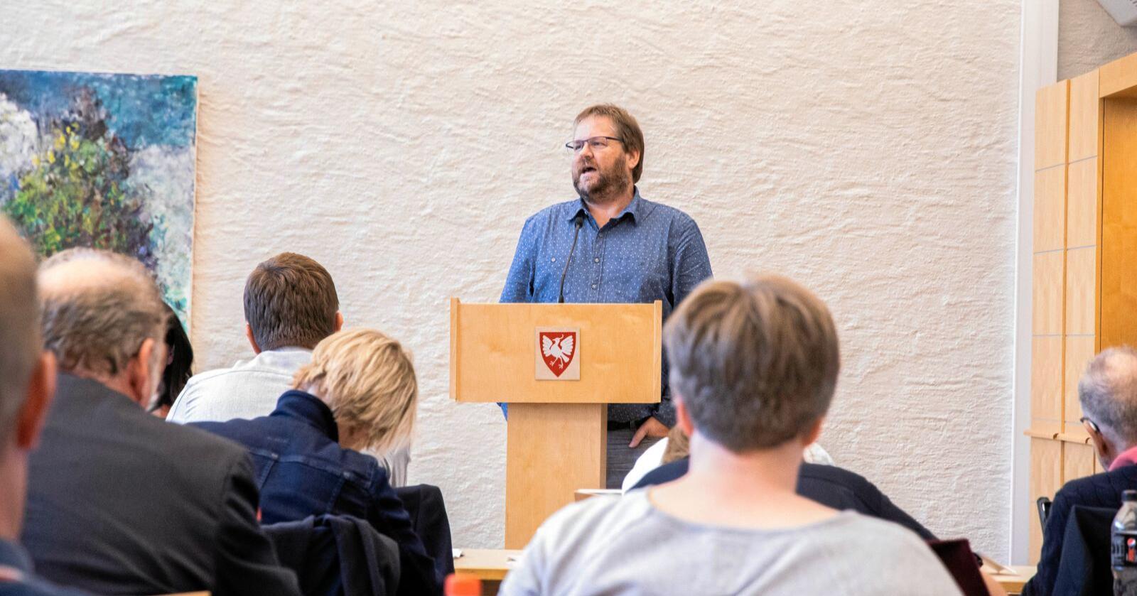 Utbryter: Anders Undheim meldte seg ut av KrF for å sikre nedbygging av 150 mål matjord i Time. Foto: Snorre S. Norheim/Jærbladet