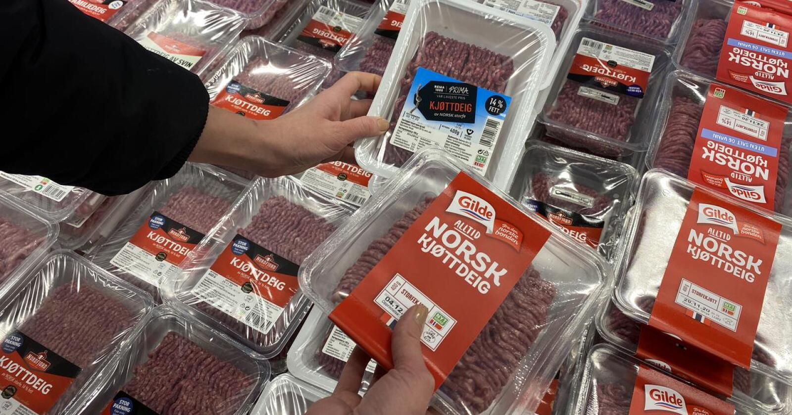 Merking: Spørsmålet om Norge skal innføre flere egne og strengere regler for matmerking, splitter Stortinget. (Foto. Iver Gamme)