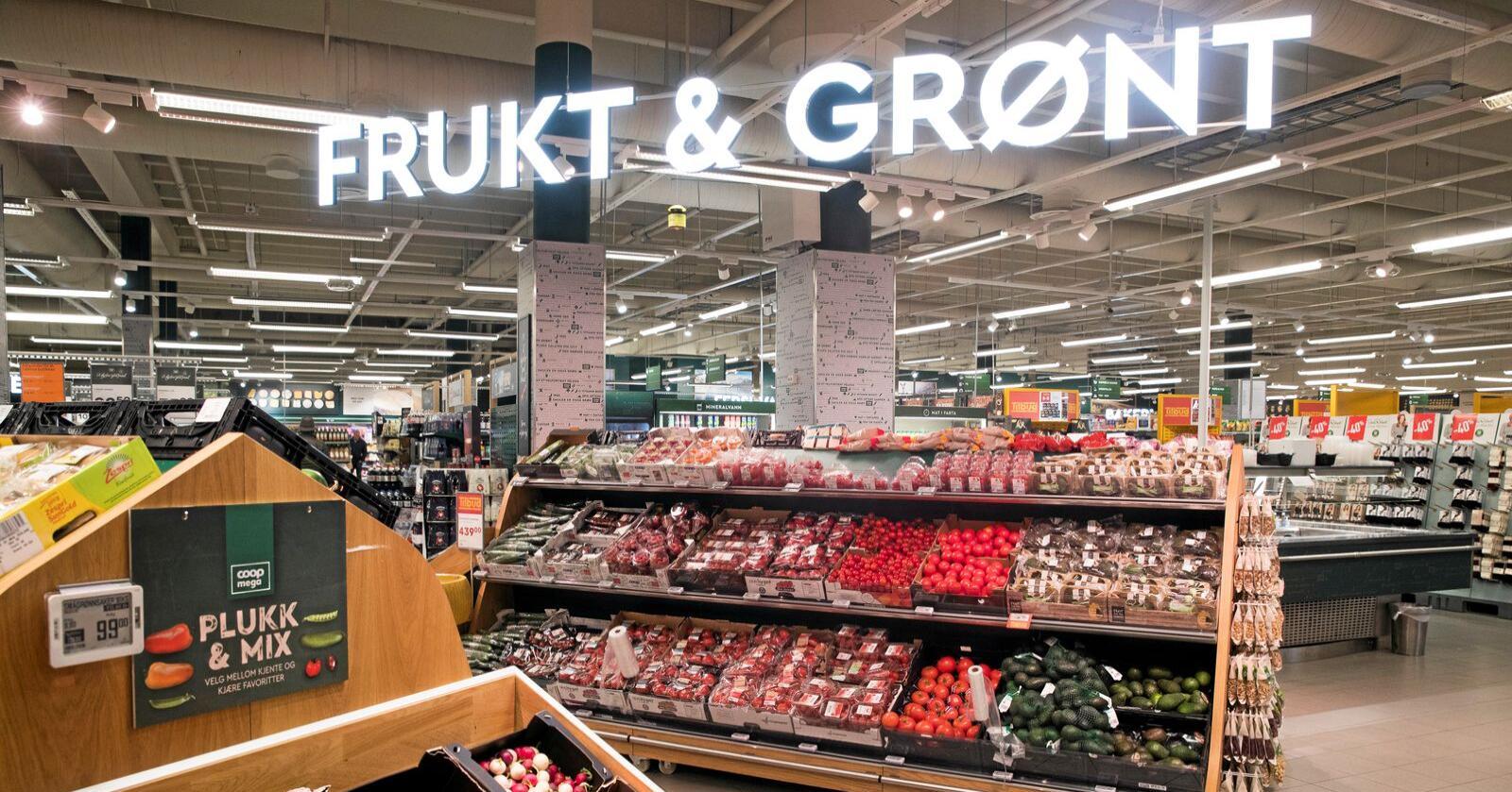 Makt: Daglegvarekjedene sin kontroll i frukt og grøntsektoren burde ha bekymra Konkurransetilsynet. Foto: Terje Pedersen / NTB