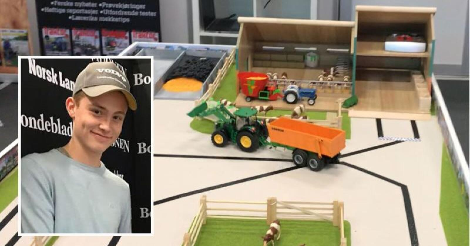 Populært: Over tusen personer konkurrerte om å kjøre raskest rundt vår traktorbane på Agroteknikk.  Seieren gikk til Martin Byberg (18) fra Hommersåk i Rogaland.