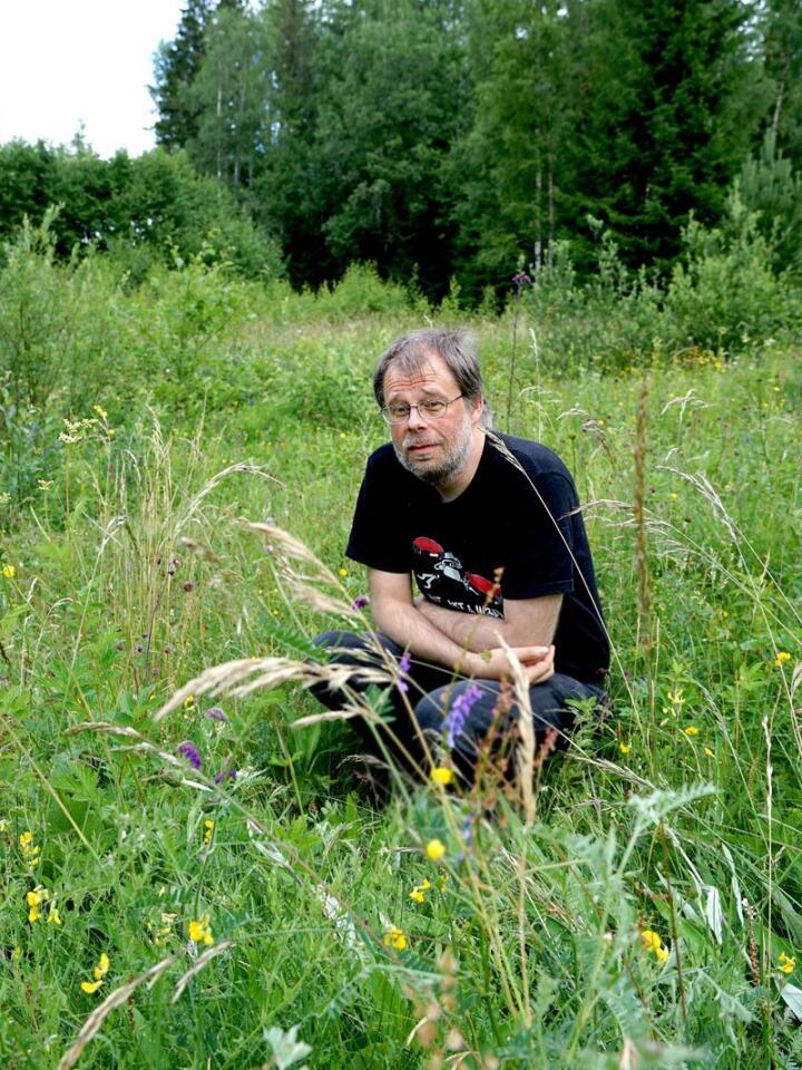 Alf-Marius Dahl Bysveen, hobby-botaniker fra Stange i Innlandet. Foto: Ingjerd Sørlie Yri