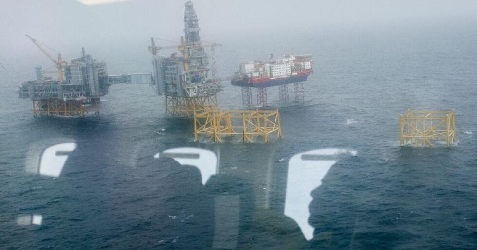 Johan Sverdrup-feltet sett fra lufta. Ved hard brexit frykter NHO at det vil bli driftsproblemer i oljesektoren. Foto: Carina Johansen / NTB scanpix