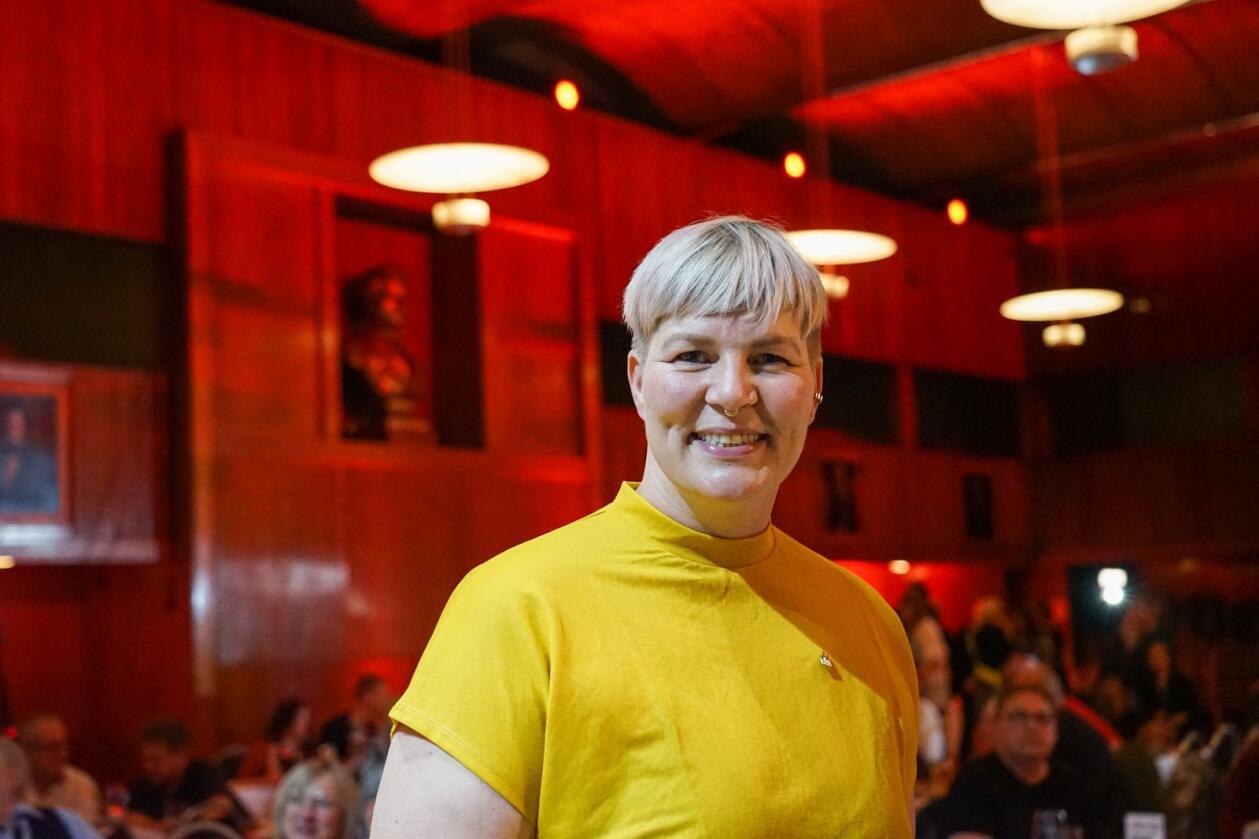 Rødts Benedikte Pryneid Hansen under valgvaken til partiet mandag kveld. Foto: Ingrid Godager
