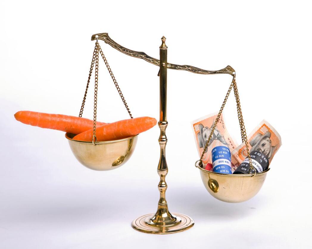 Dansk finansnæring tjener over tre ganger så mye som bøndene på landbruket i landet. Illustrasjonsfoto: Colourbox