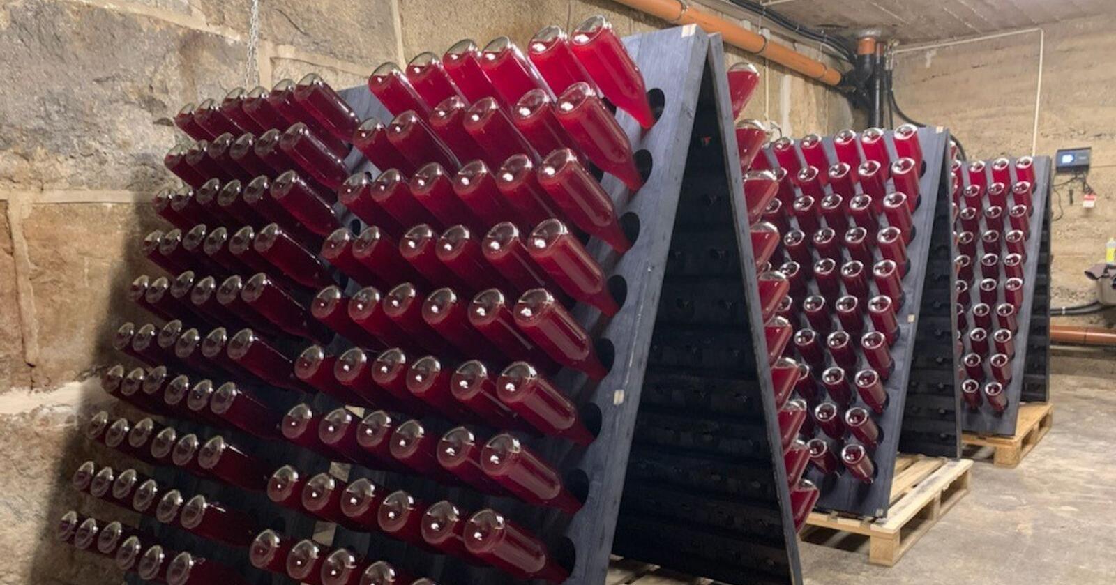 Bringebærlandet produserer musserende på champagne-metoden. Foto: Privat