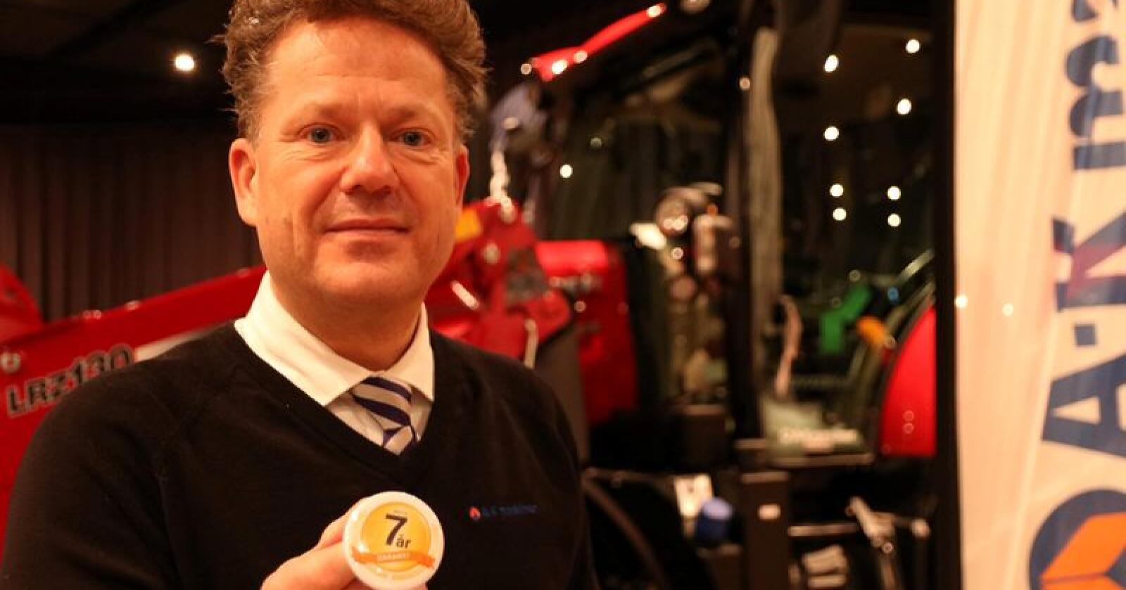 A-K maskiner og Erik Grefberg kan nå tilby en service- og garantiordning som strekker seg over sju år. Foto: Dag Idar Jøsang