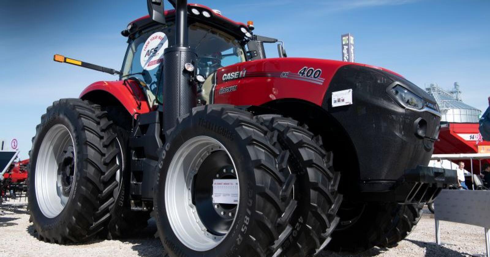 Nye Magnum 400 er Case IHs hittil største, konvensjonelle traktor. (Foto: Marcus Pasveer)