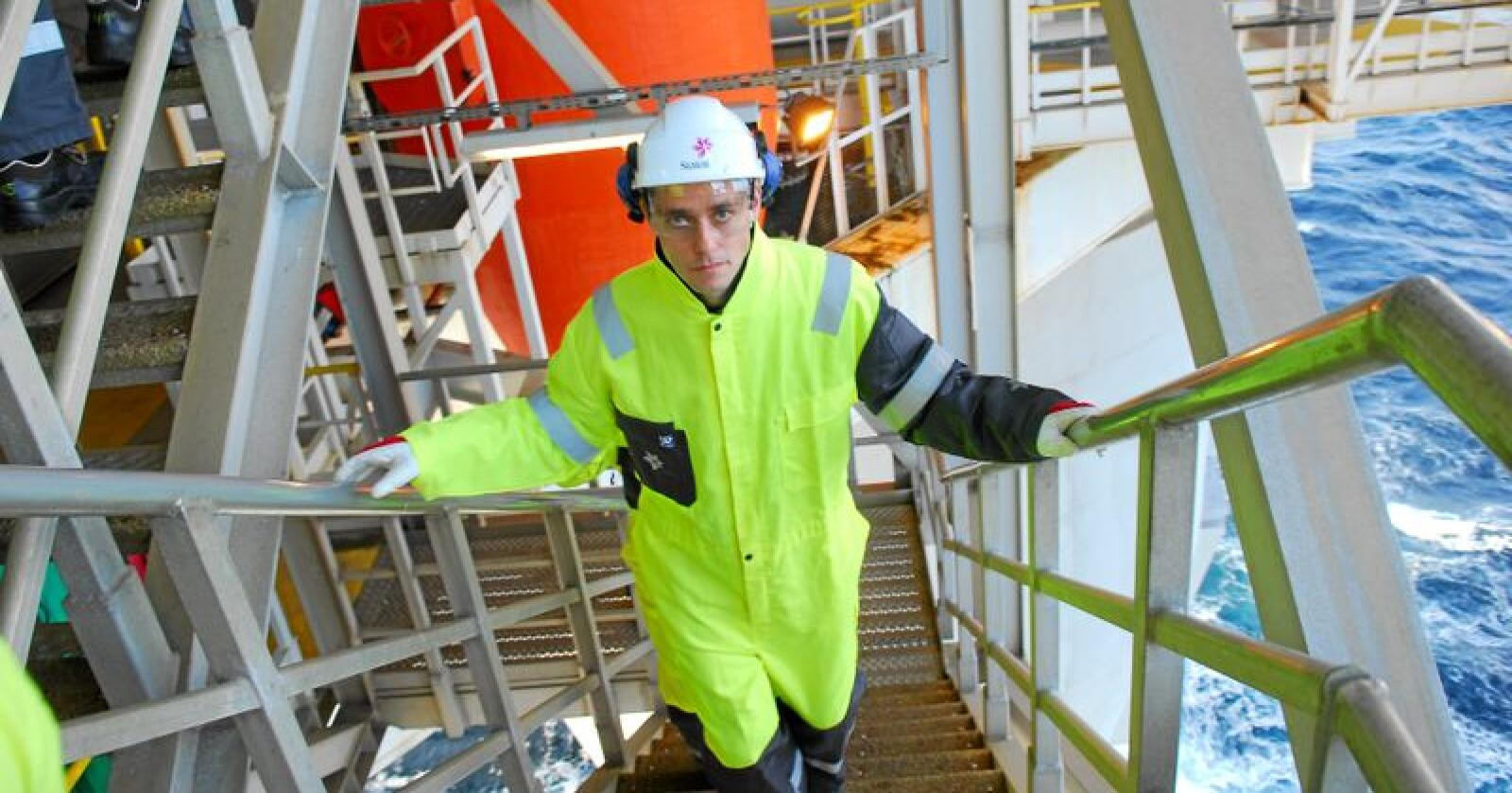 Det var tidligere olje- og energiminister, og nå nestleder i Sp, Ola Borten Moe, som sikret Norge avtaler med Storbritannia og Tyskland om bygging av nye strømkabaler på havbunnen i Nordsjøen i 2011 og 2012. Fra 2005 og helt fram til 2019 har Frp og Sps olje- og energiministre jobbet iherdig for å koble det norske strømmarkedet til resten av Europa. Foto: Steinar Schjetne / Scanpix