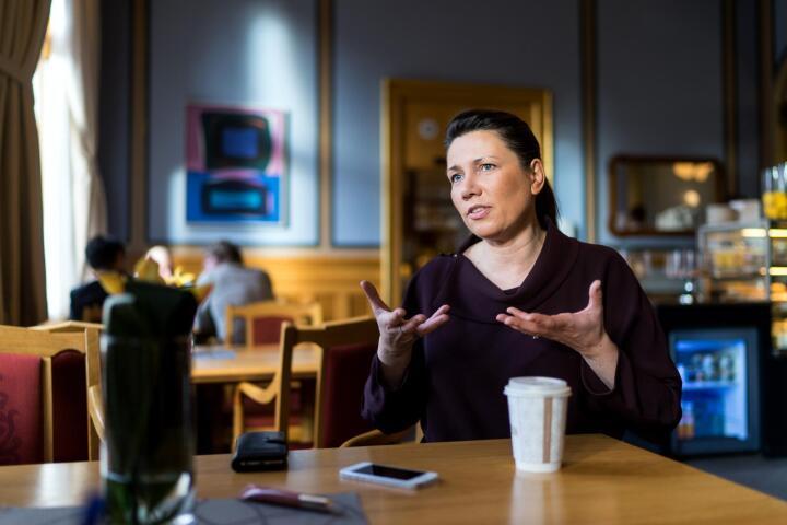 Heidi Nordby Lunde, nyvald leiar i Europabevegelsen er klar for å debattere Europa. Foto: Ketil Blom Haugstulen
