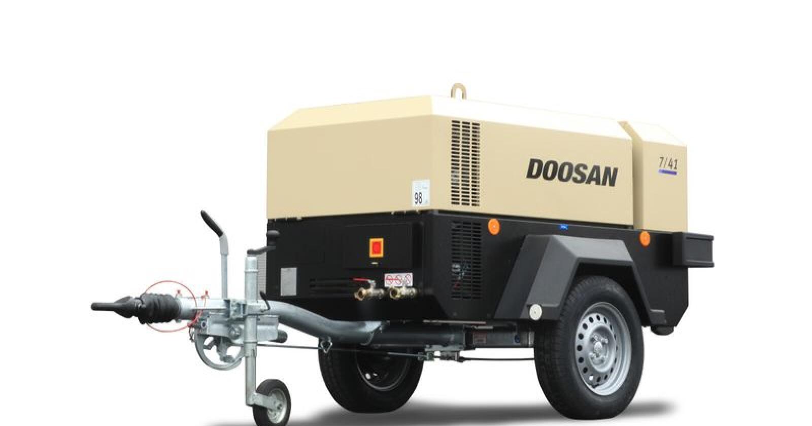 Doosans lavtrykkskompressorer kan leveres med arbeidtrykk fra 7-17 bar. (Foto: produsenten)