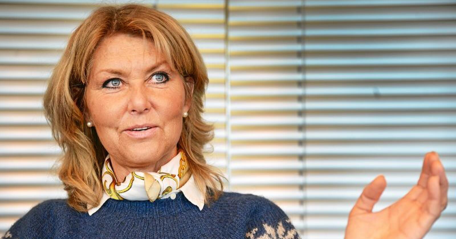 Hanne Alstrup Velure, leder for Utmarkskommunenes sammenslutning, mener det er tillitskrise for rovdyrforvaltningen. Foto: Siri Juell Rasmussen