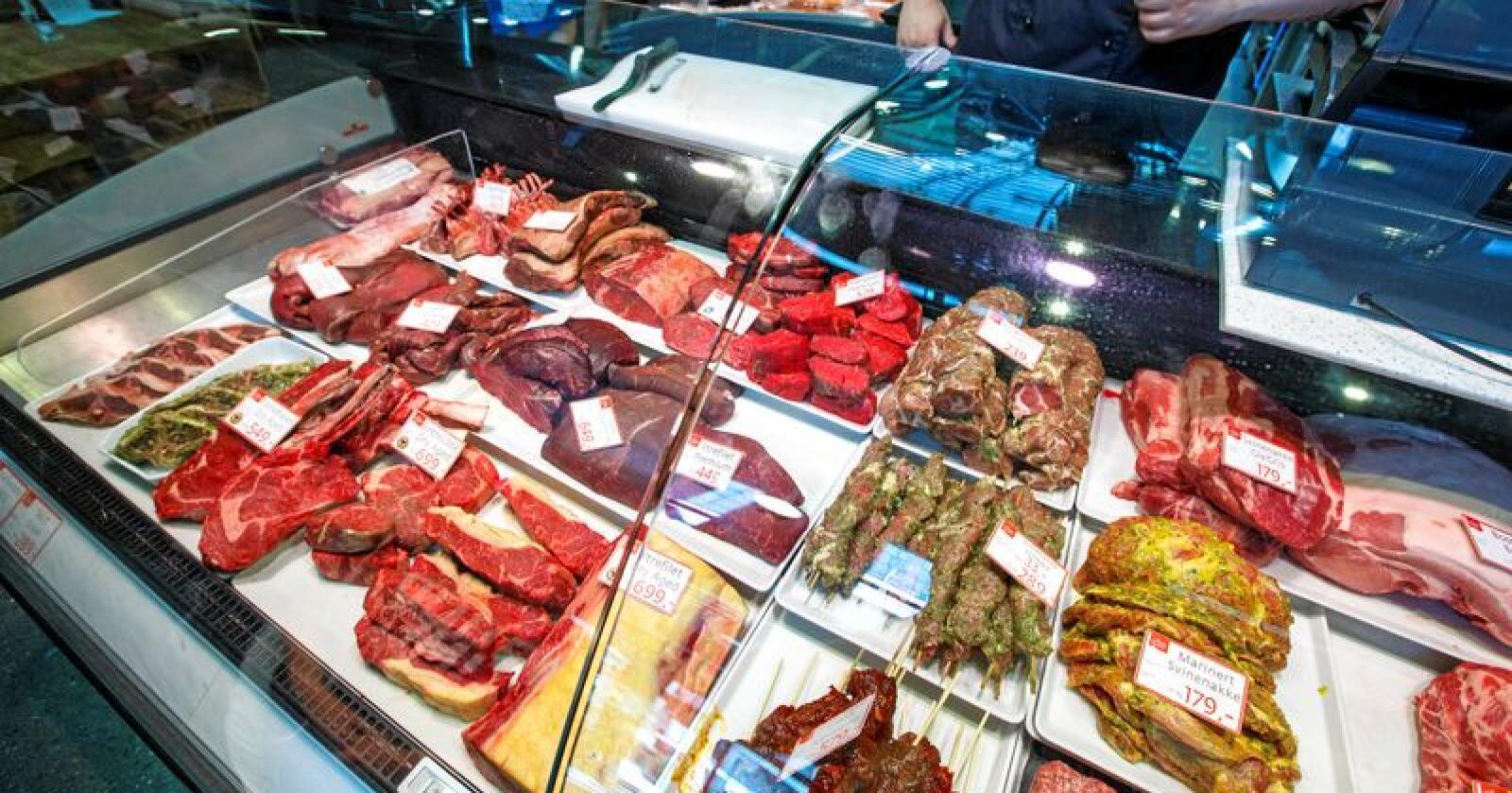 Not hot: Mange forbrukere opplyser at de ønsker å kutte kjøttforbruket.  Foto: Gorm Kallestad / NTB scanpix