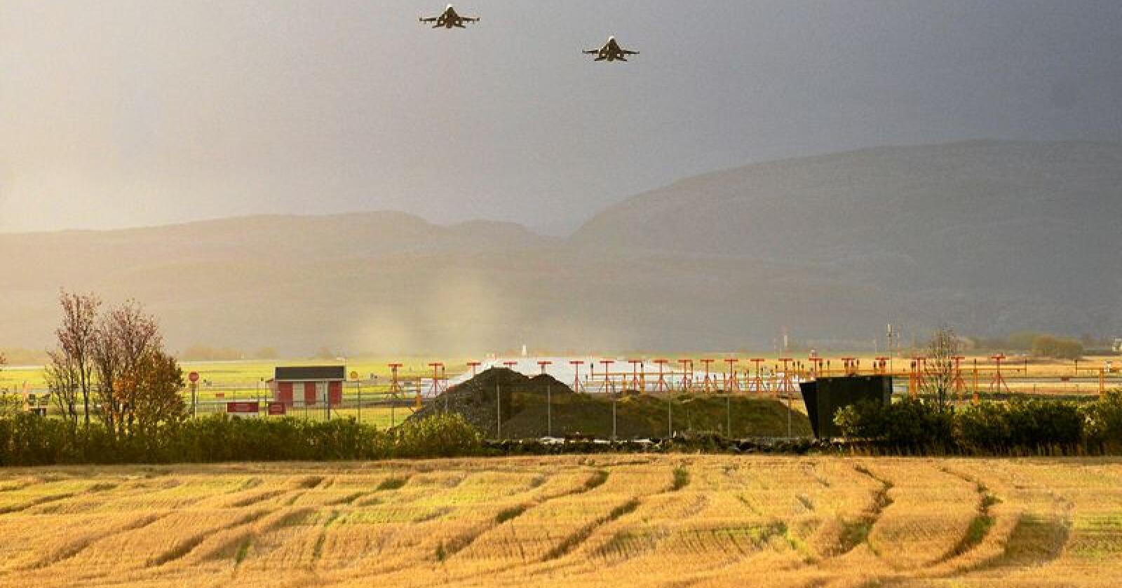 Kritisk: Amerikanske fly på Ørlandet gjør Norge mer utrygt, skriver innsenderen. Foto: Siri Juell Rasmussen