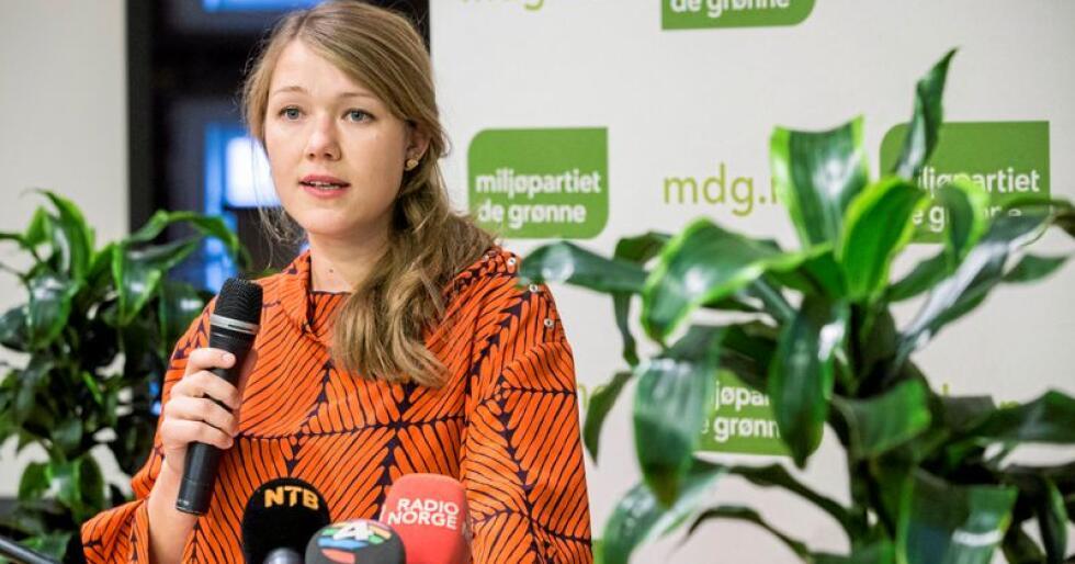 Une Aina Bastholm, nasjonal talskvinne for Miljøpartiet De Grønne. Foto: Mariam Butt / NTB scanpix