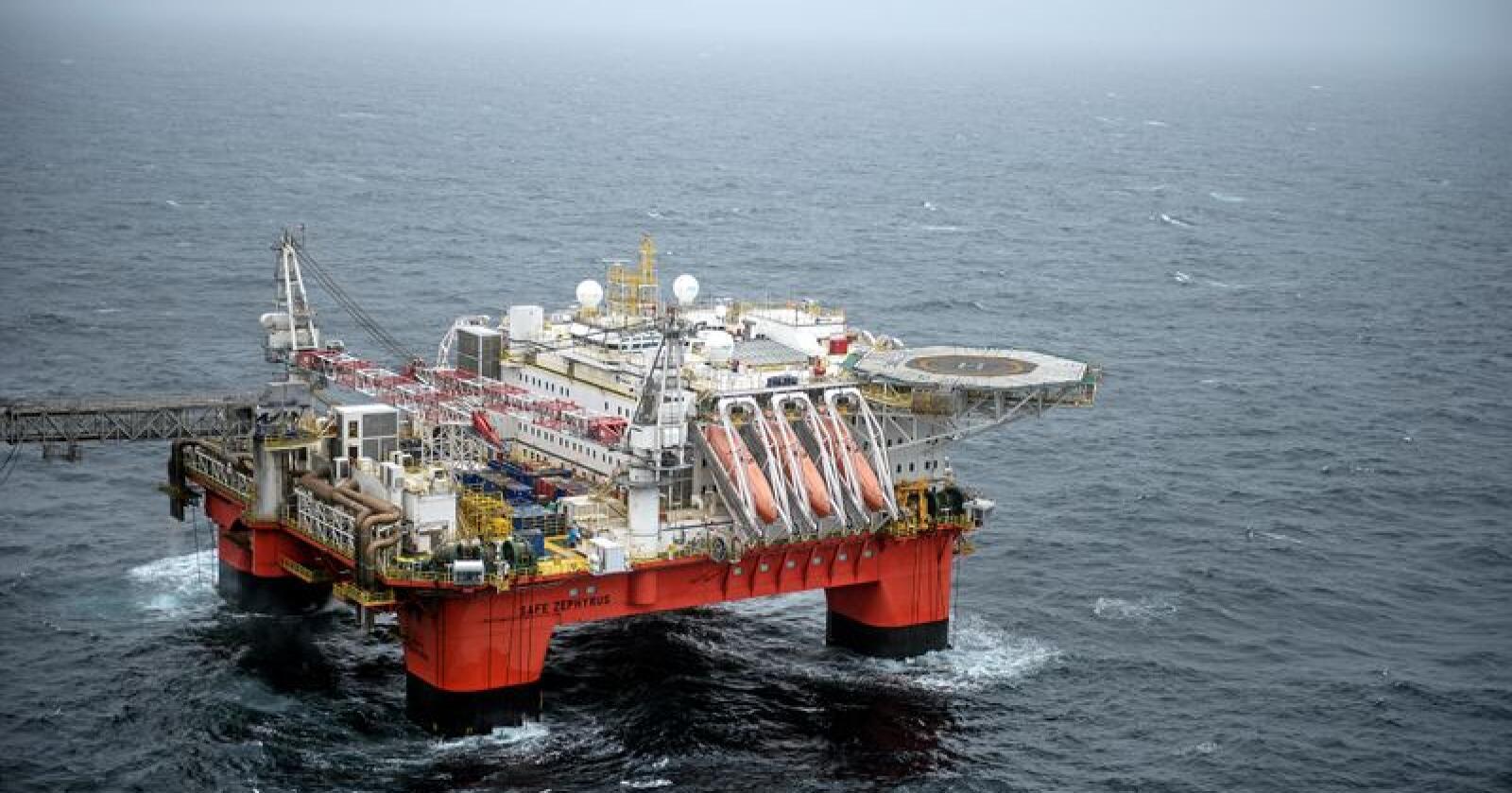 Ap og Sp varsler at oljeletingen skal fortsette. Her fra den offisielle åpningen av strømforsyning til Johan Sverdrup fra land. Foto: Carina Johansen / NTB Scanpix