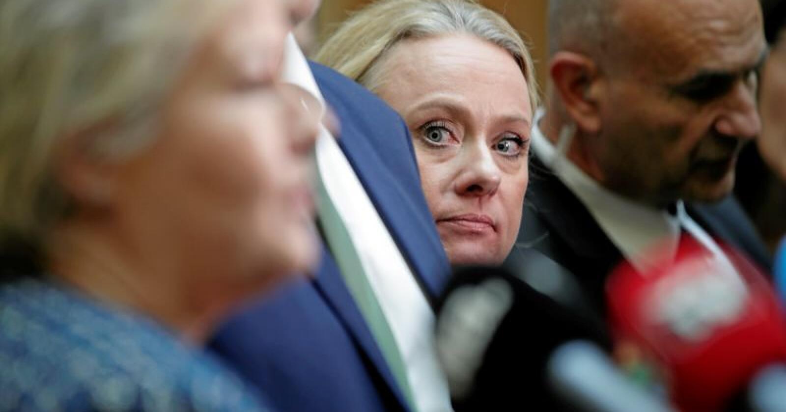 Fengslende: Arbeids- og sosialminister Anniken Hauglie (H) er konstitusjonelt ansvarlig for at mange er strafforfulgt på feil grunnlag. Foto: Stian Lysberg Solum / NTB scanpix