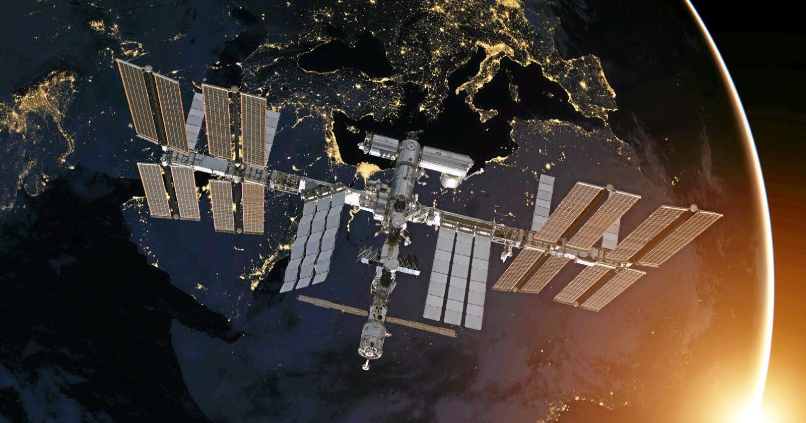 Kjøttet er produsert på den russiske delen av den internasjonale romstasjonen. Illustrasjonsfoto: NASA-images/Mostphotos