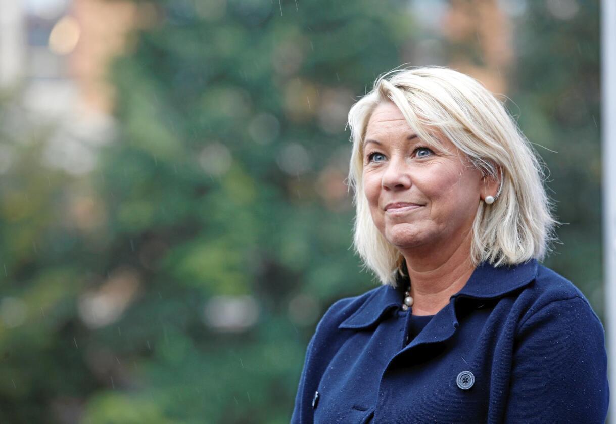 På vent: Næringsminister Monica Mæland (H) har ikkje fått andre signal enn at TTIP er sett på vent, men held dørene opne for at fleire ting kan vere mogleg. Foto: Terje Pedersen / NTB Scanpix