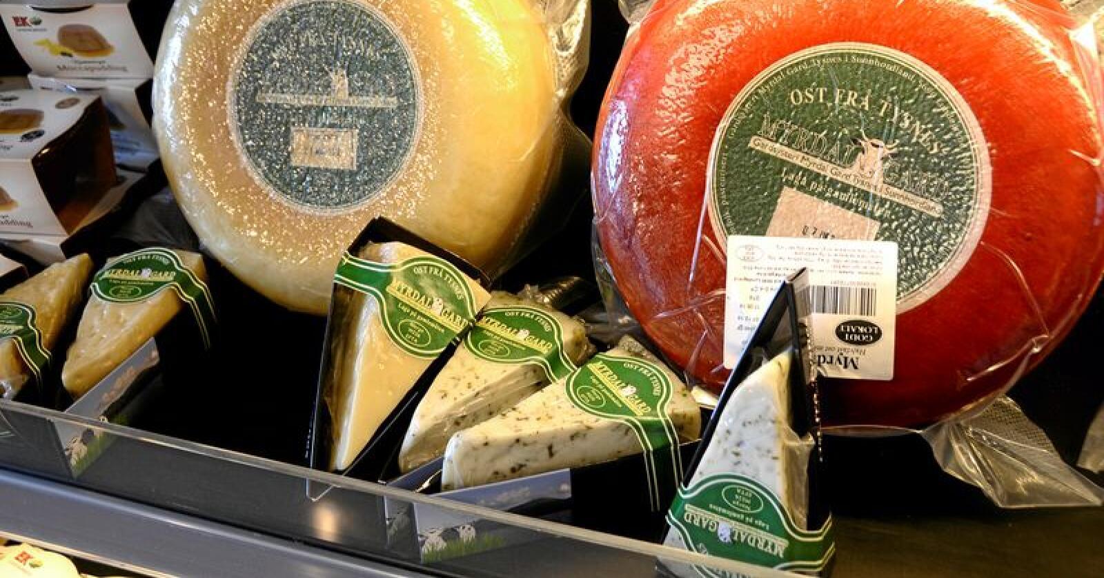 Marked i vekst: De siste årene har det blir etablert flere lokale osteprodusenter. Foto: Mariann Tvete