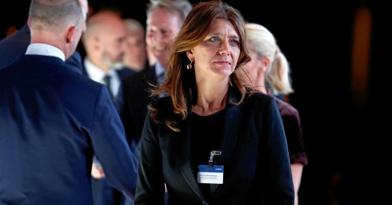 Anne-Cecilie Kaltenborn i NHO Service og Handel svarer på kritikk fra Nationen. Foto: Heiko Junge / NTB scanpix