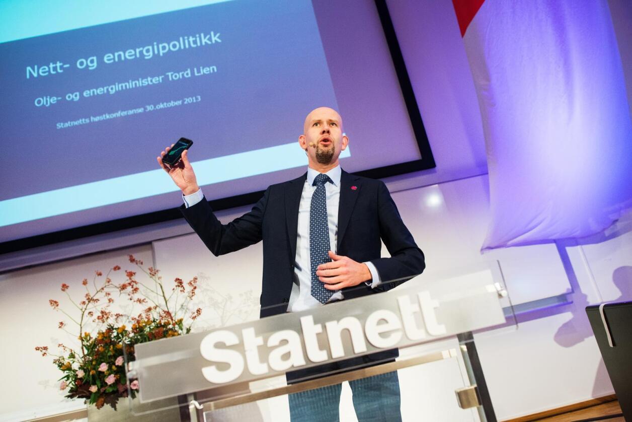 – Jeg har reflektert over det faktum at vi har lang og god erfaring med at Statoil har hatt norske ledere. Det er et perspektiv jeg er trygg på at styret vil ha med seg, sier olje- og energiminister Tord Lien (Frp). Foto:  Ketil Blom Haugstulen
