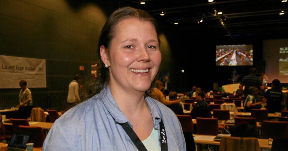 Nestleiar: Frøydis Haugen er vald til ny 2. nestleiar i Norges Bondeag. Foto: Bjarne Bekkeheien Aase