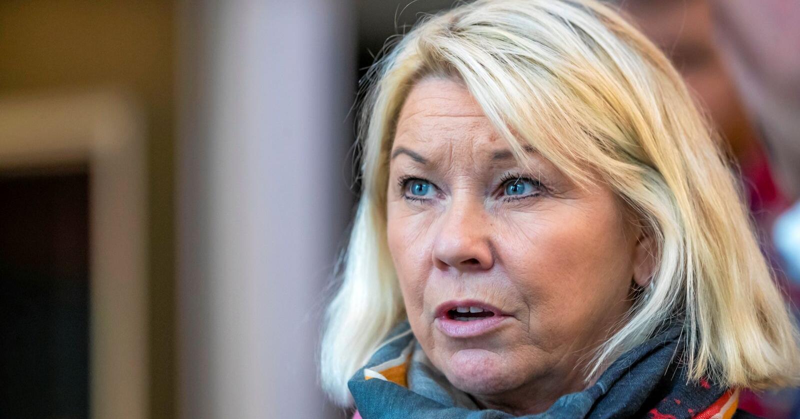 Justisminister Monica Mæland (H) går inn for deler av forslaget til Domstolskommisjonen. Foto: Håkon Mosvold Larsen / NTB scanpix