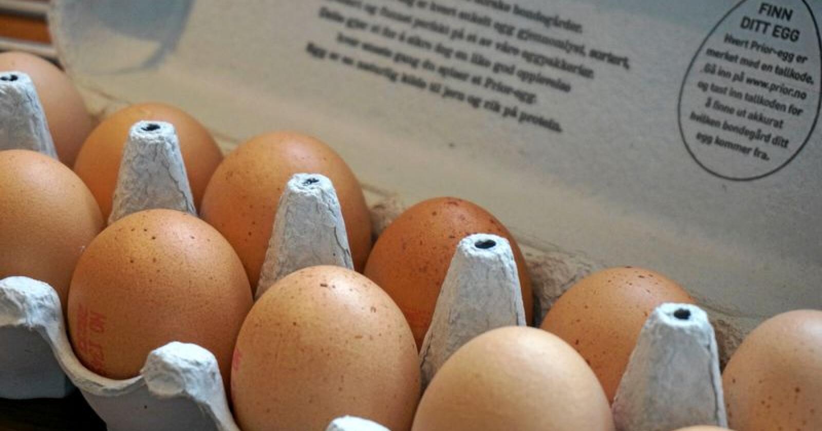 Nesten 4,5 millioner høner produserte eggene våre i fjor, fordelt på 2.200 jordbruksbedrifter. Foto: Mariann Tvete