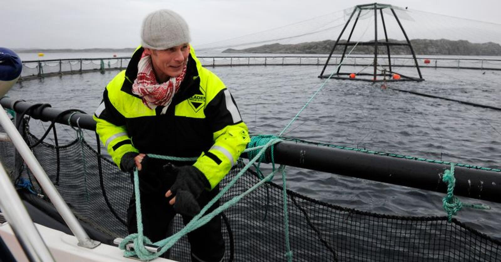 Ola Braanaas i Firda Seafood Group i Sogn og Fjordane doblet formuen fra en halv milliard til en milliard kroner. Han sier han vil flagge ut om det blir innført lakseskatt. Foto: Marit Hommedal / NTB scanpix
