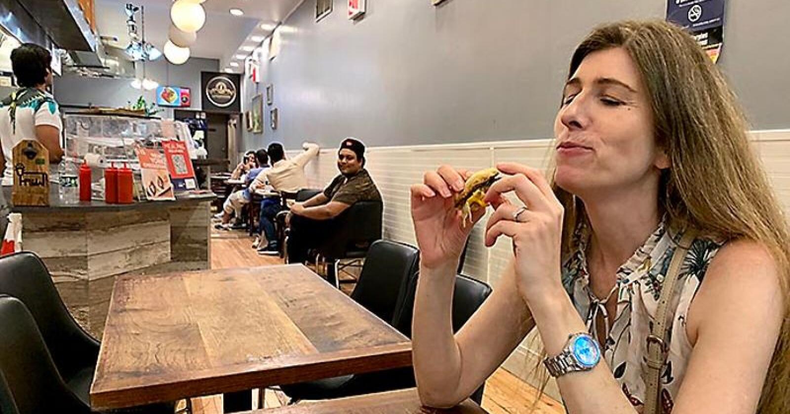Vi tester den umulige burgeren i New York. Foto: Privat