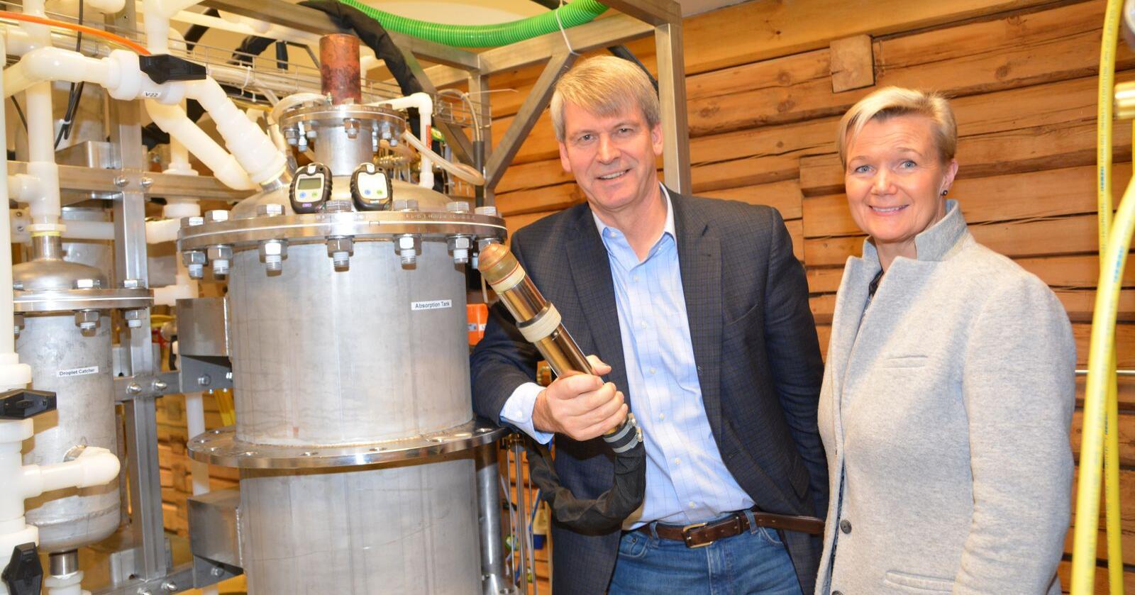Grete Sønsteby og Rune Ingels i N2 Applied utvikler teknologi som kan optimalisere utnyttelsen av nitrogen på norske gårdsbruk og redusere lystgassutslippene.