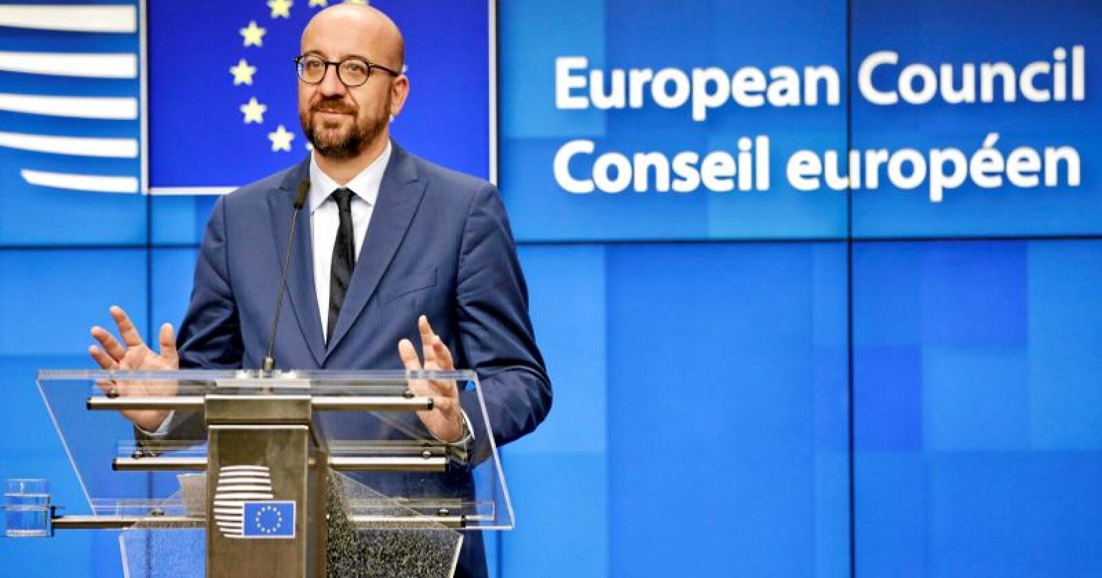 EUs nye rådspresident Charles Michel. Foto: Olivier Matthys / AP / NTB Scanpix