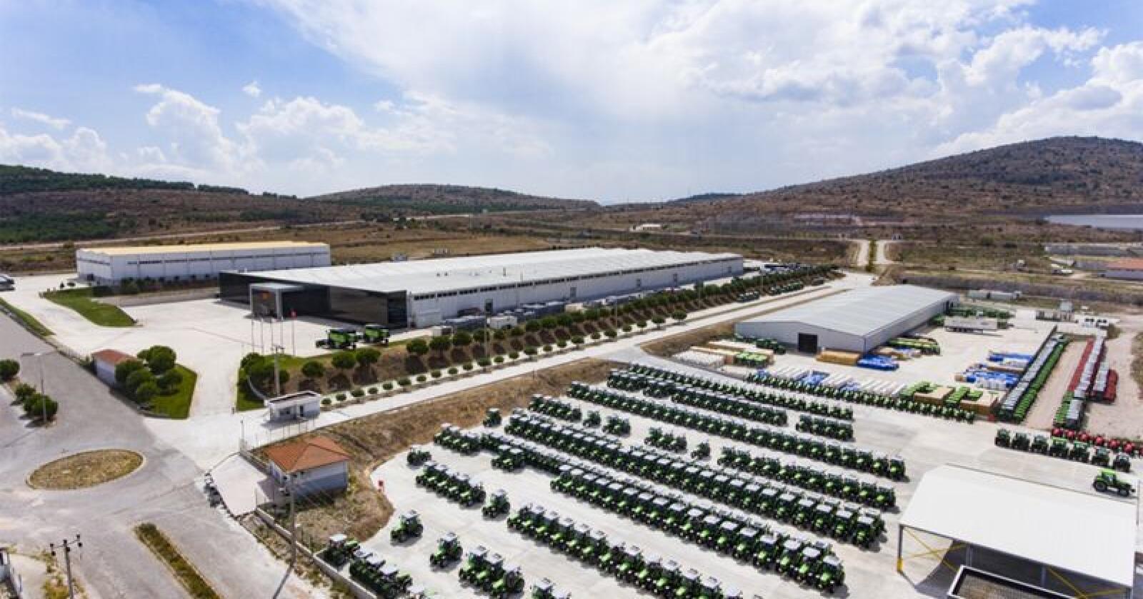SDFs nye fabrikkanlegg i Bandirma har en produksjonskapasitet på 15.000 traktorer per år. (Foto: SDF)