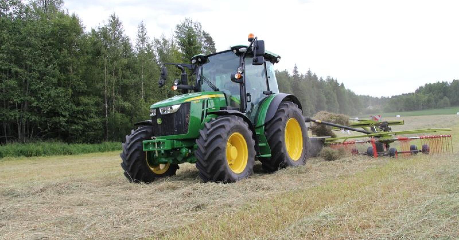 Leder an: John Deere har registrert 228 nye traktorer så langt i år. Foto: Even Kristian Mangerud