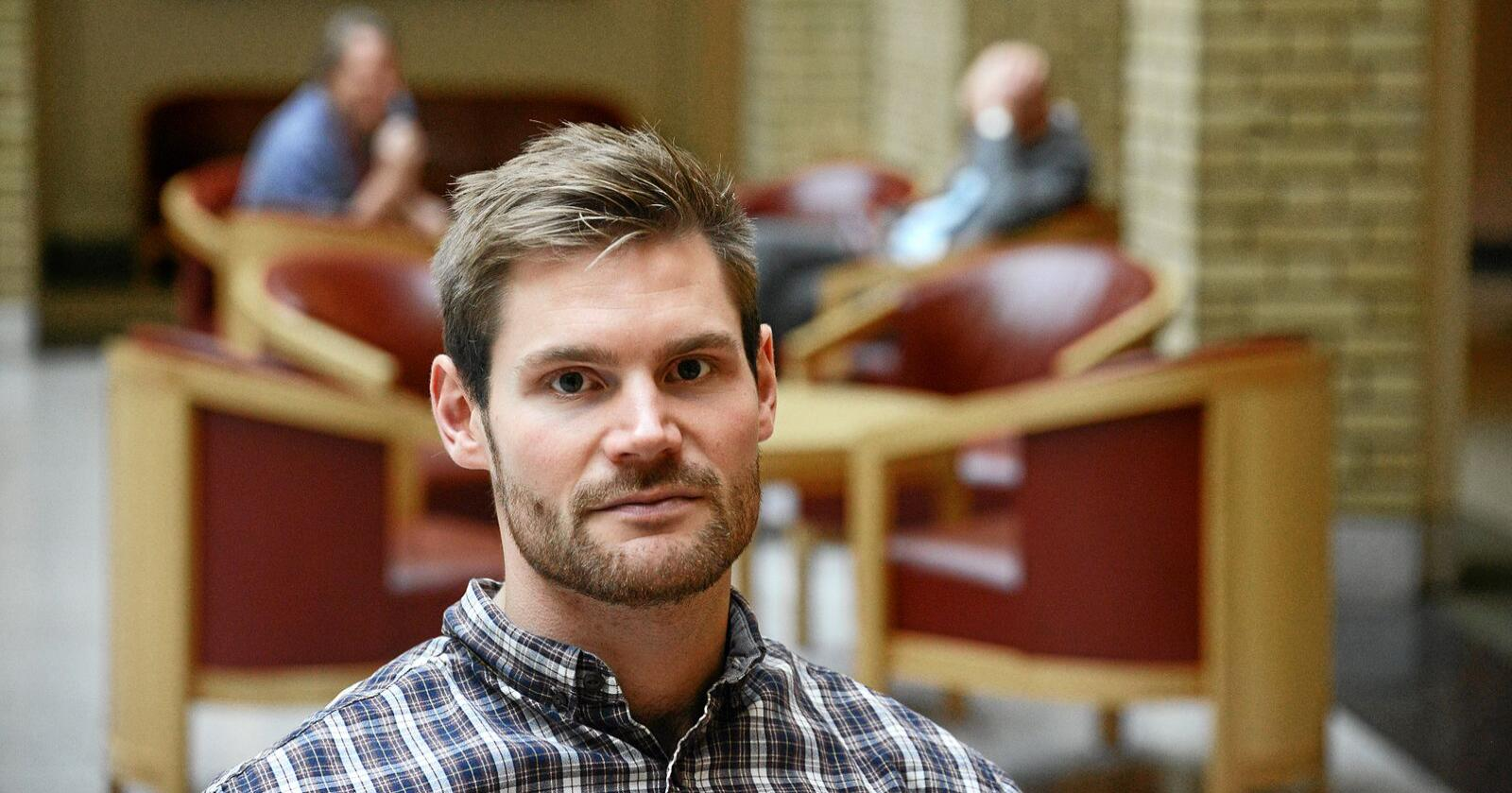 Nils Kristian Sandtrøen, politiker for Ap og varaordfører på Tynset fra 2015.  Foto: Siri Juell Rasmussen