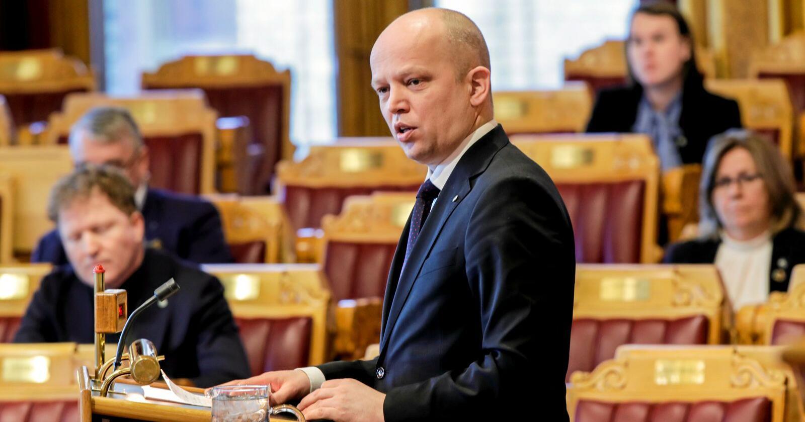 Har ikke god skattepolitikk: Senterpartiet og leder Trygve Magnus Slagsvold. Foto: Vidar Ruud