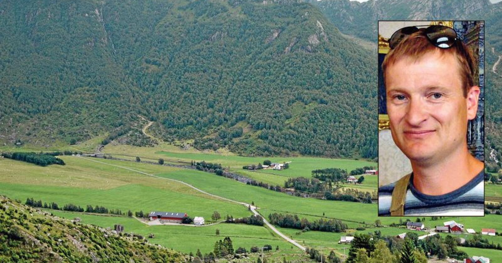 Kunnskap: Landbrukskompetanse er viktig for å kunne taksere en gård, mener Bjørn Ludvig Mehlum. (Foto: Akrivfoto og privat)