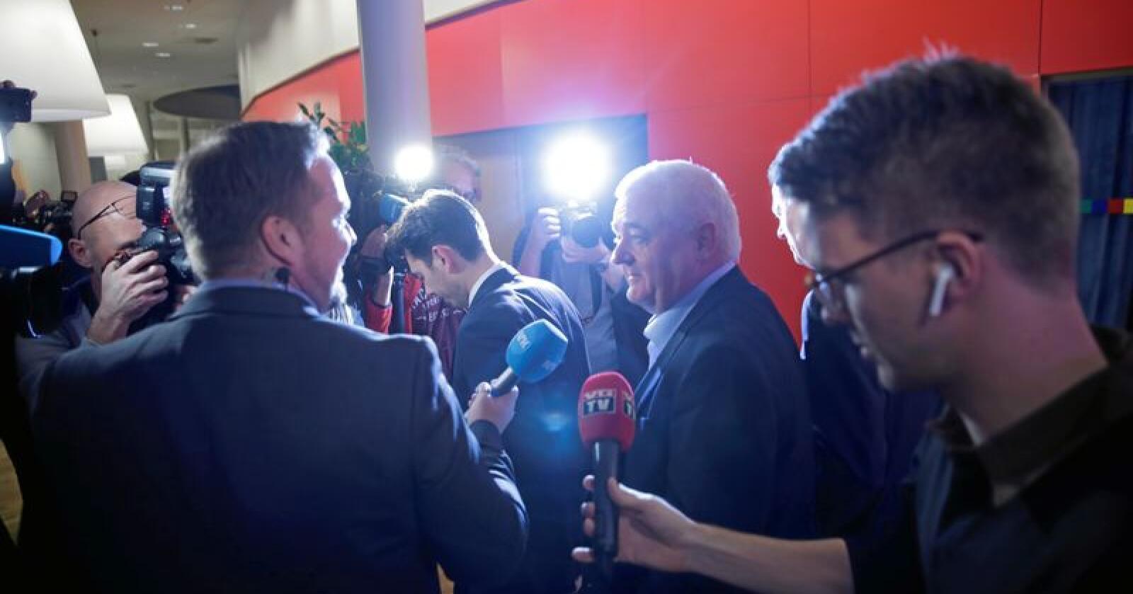 Spiondømt: Frode Berg traff tirsdag norsk presse for første gang etter at han ble benådet av russiske myndigheter. Foto: Stian Lysberg Solum/NTB scanpix