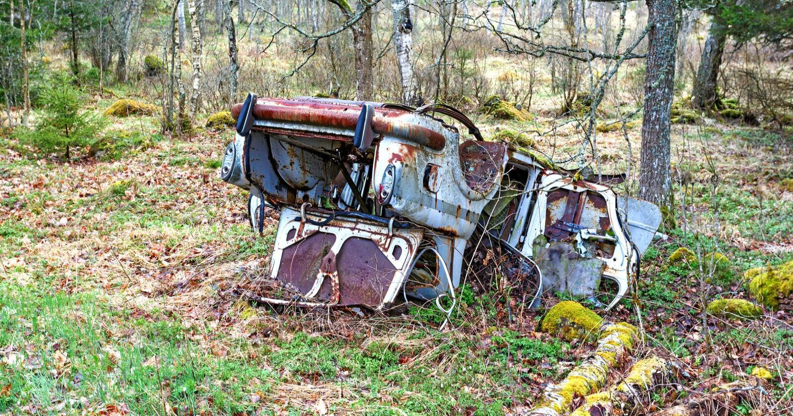 Skrot: Fortidens søppelhåndtering er sårt å se med nåtidens øyne.Foto: Lars Johansson / Mostphotos