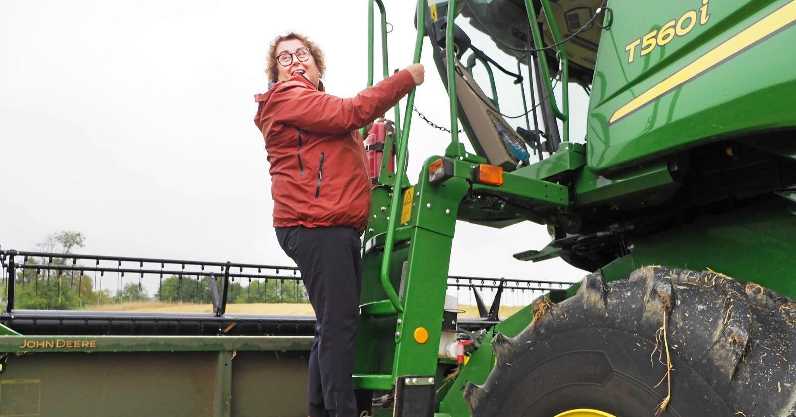 Under åpningen av kontorene til Landbruksdirektoratet i Steinkjer, fortalte Olaug Bollestad at de vil få en økt bevilling i neste års statsbudsjett. Foto: Siri Juell Rasmussen