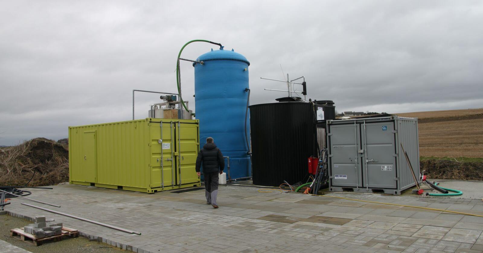 Selv om vi ligger langt bak myndighetenes mål om at 30 prosent av husdyrgjødsel skal omdannes til biogass innen 2020, er det stor interesse for biogass i landbruket. Nå går flere store landbruksaktører sammen om et nasjonalt kompetansenav for biogass. Foto: Øystein Heggdal