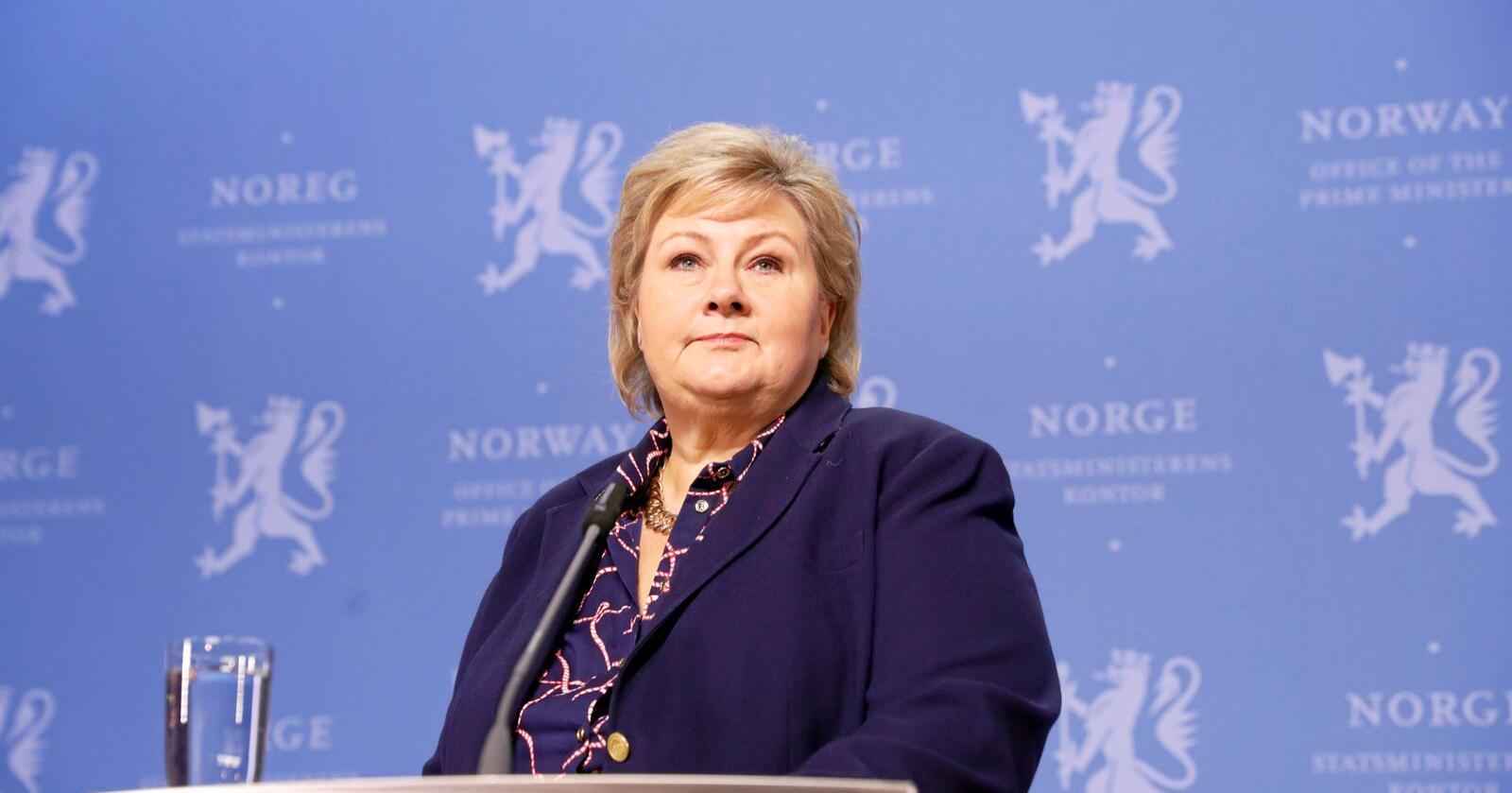 Mindretallsregjering: Statsminister Erna Solberg (H) svekkes av at Frp går ut av regjering. Foto: Terje Bendiksby / NTB scanpix