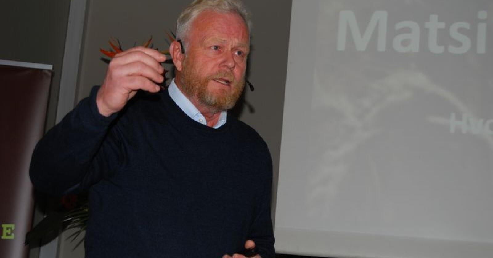 Tidligere forsvarssjef Harald Sunde, under arrangementet Mat og Landbruk Innlandet 2017. Foto: Guro Breck/Norges Bondelag