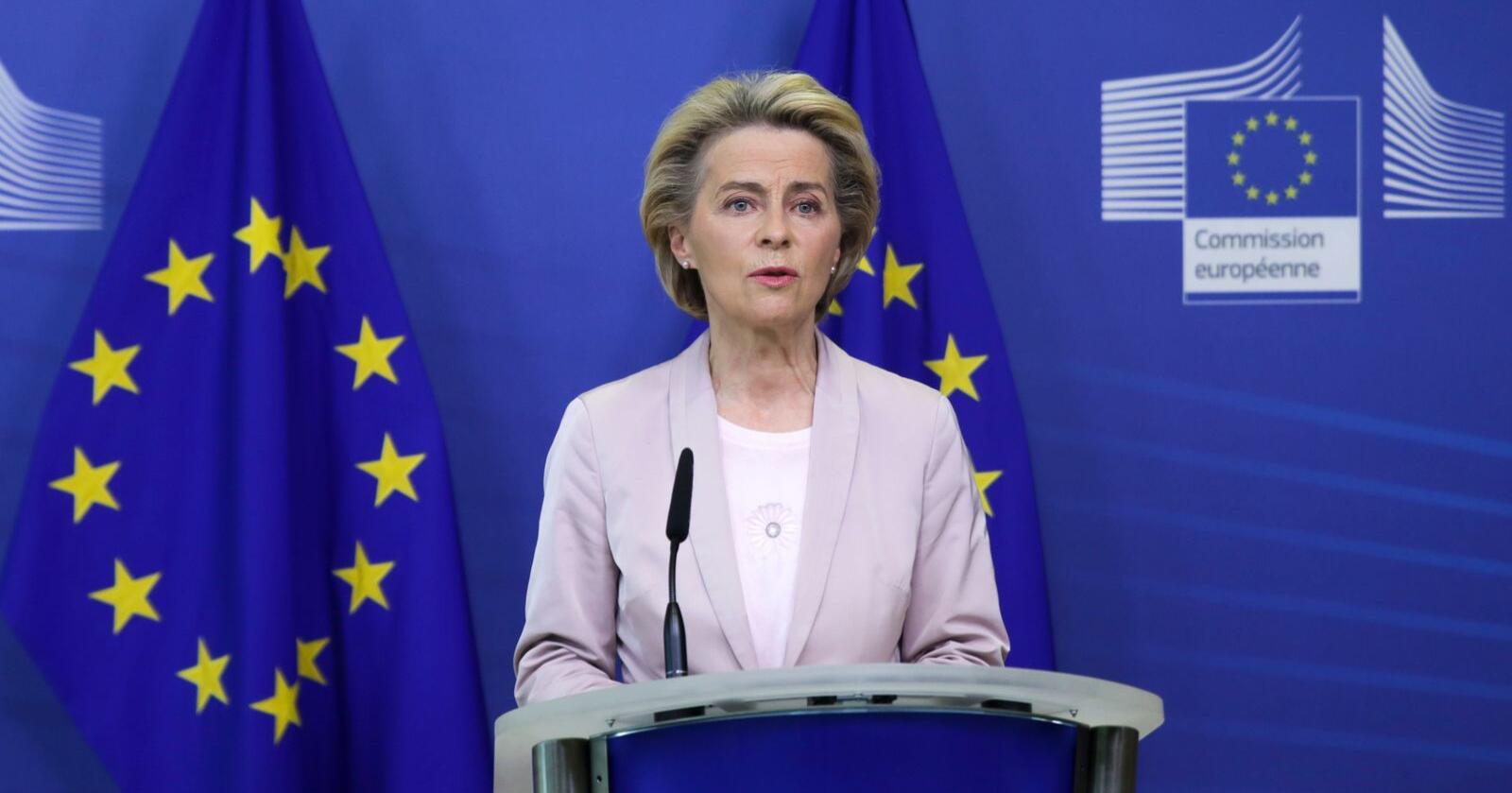 Skjerping av klimamålene for det kommende tiåret er ventet å være en del av budskapet fra Ursula von der Leyen når hun onsdag holder sin tale om unionens tilstand. Foto: Aris Oikonomou / AP / NTB scanpix