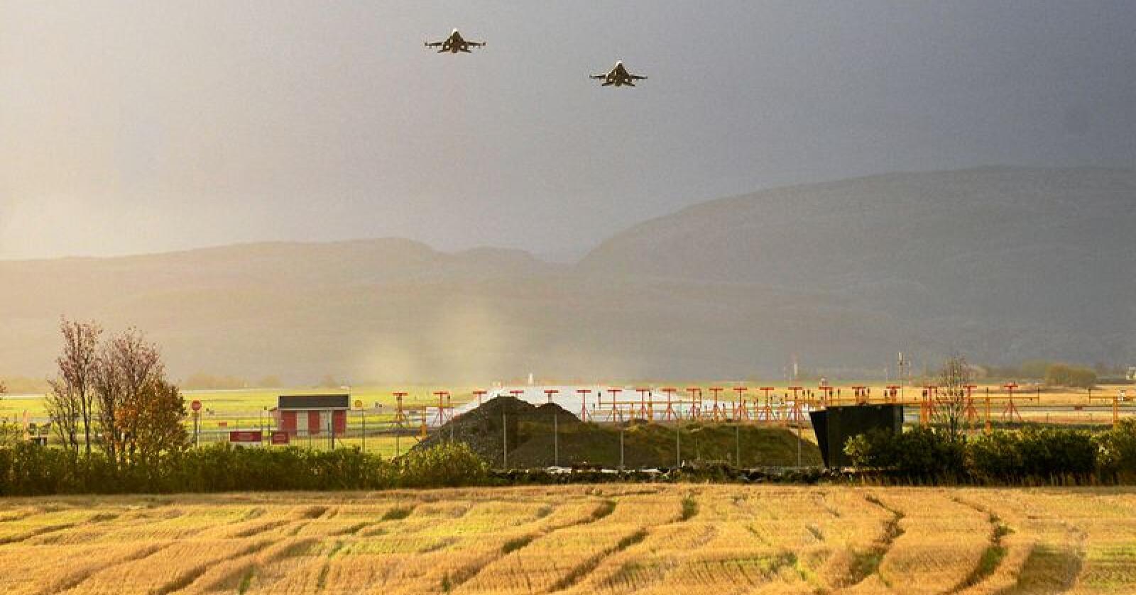 Det skal bygges ny kampflybase på Ørland i Trøndelag. Foto: Siri Juell Rasmussen